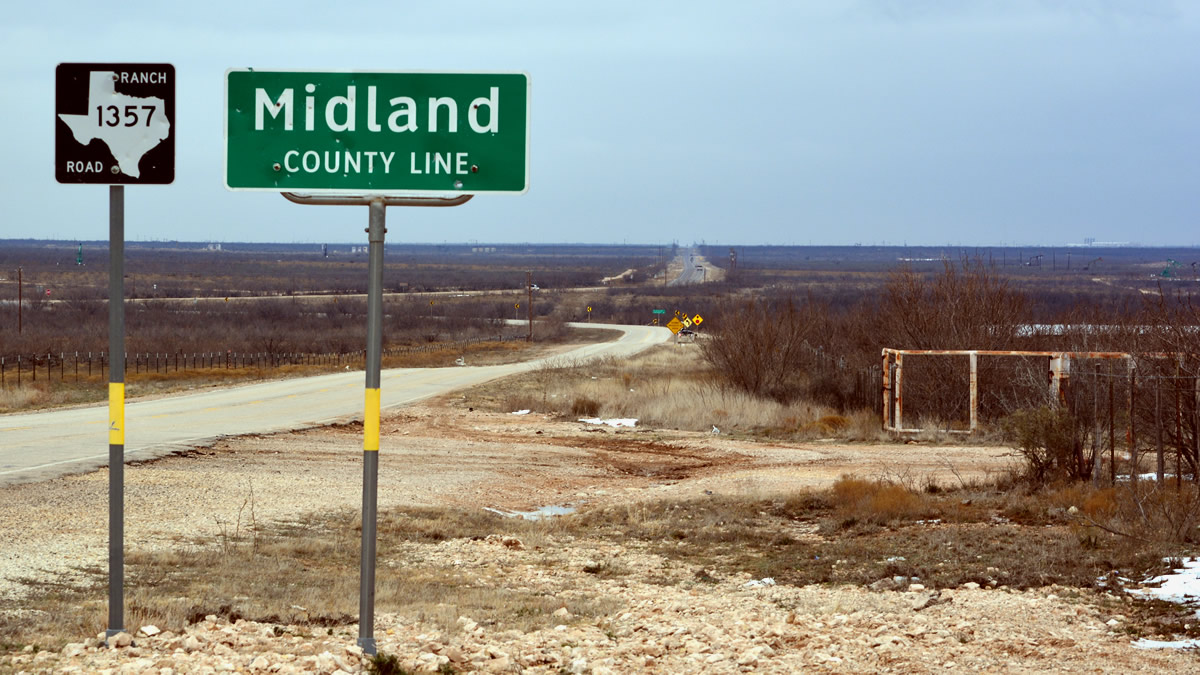 Midland, Texas county line.