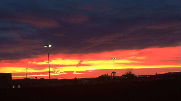 Sunset in Midland, Texas.