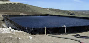 Temporary Frac Water Storage Ponds