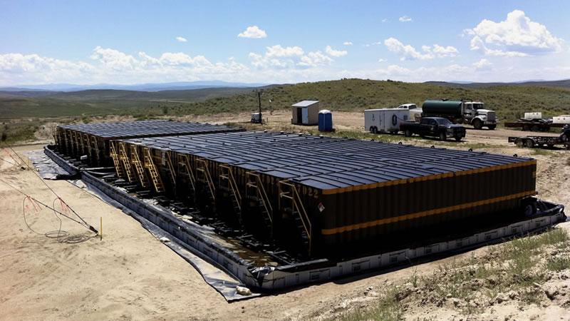 texas based portable frac pond installation services
