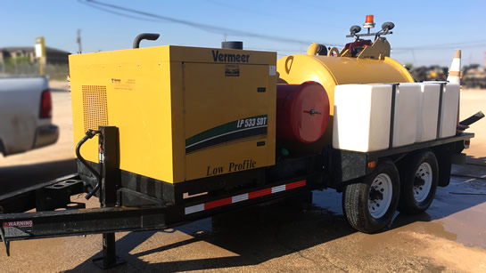 Vacuum Trailer Rental for Oilfield and Construction sites