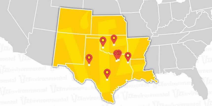 VZ Environmental Oilfield Services in Texas, Louisiana, Oklahoma
